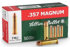 357 Mag Sellier&Bellot 10,25g/158gr FMJ 50kpl - Yli 9mm - 8590690311392 - 1
