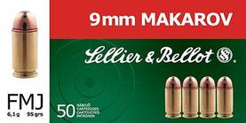 9x18 makarov Sellier & Bellot 6,1g 50kpl - 9mm - 8590690310913 - 1
