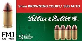 S&B 9mm Browning court/380 auto 50kpl - 9mm - 8590690310333 - 1
