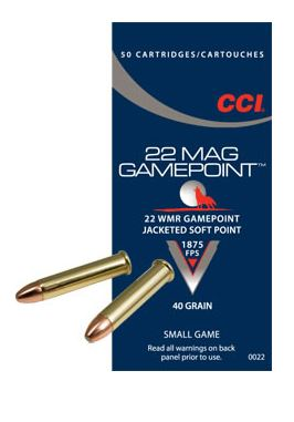 22 WMR CCI Game Point JSP 2,6g - 22 WMR - 076683000224 - 1
