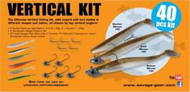 Savage Gear Vertical Pro Pack Kit 40pcs - Jigit ja heittoperhot - 5706301488077 - 1