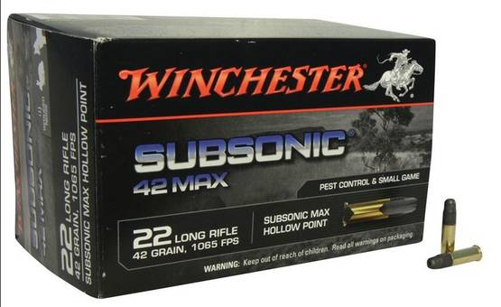 22lr WINCHESTER Subsonic 2,7g/42gr MAX -  - 020892103337 - 1